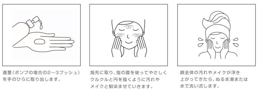 プリュ クレンジング 洗顔方法1